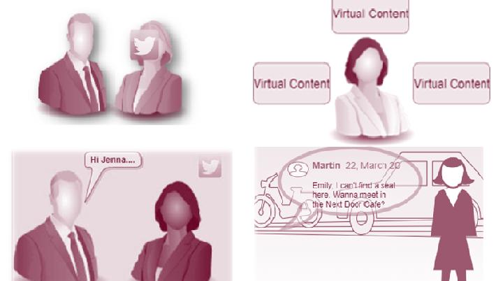 Context Intelligent Adaptive AR: Social Conversation Detection